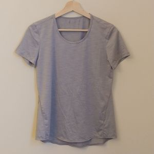 Athleta Kettlebella Silver Train Short Sleeve Tee